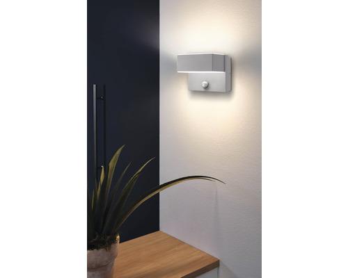LED Sensor Außenwandleuchte 2x5,6W 2x600 lm 3000 K warmweiß Azzinano silber H 115 mm IP44