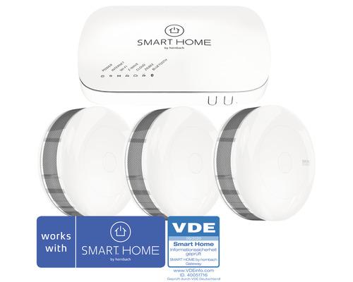 SMART HOME by hornbach Starter Set Rauchmelder inkl. Gateway und 3 Fibaro Rauchmelder