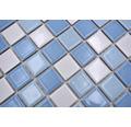Keramikmosaik BM 300 30,2x33 cm mix weiß/blau