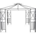 Pavillon Durban 300 x 300 cm Polyester grau Stecksystem