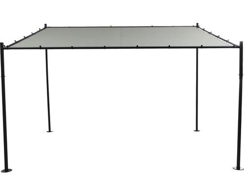 Pavillon Levino 300 x 400 cm Polyester hellgrau Stecksystem