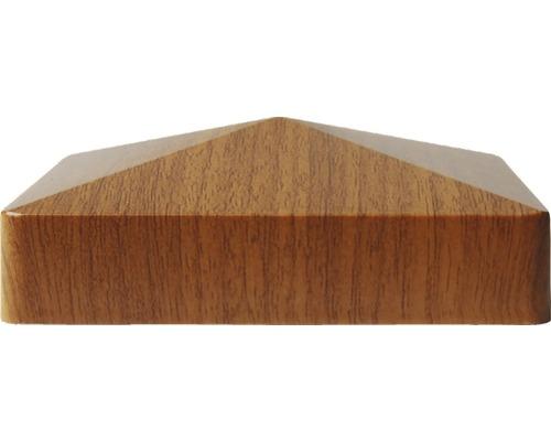 Kappe für Zaunpfosten golden oak 87x87, Farbe Braun