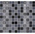Glasmosaik CM 4999 mix schwarz 30,2x32,7 cm