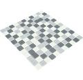 Crystal-Glasmosaik CM 4125 30,2x32,7 cm mix grau