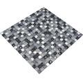 Glasmosaik mit Naturstein XCM M890 30,5x32,2 cm grau/silber/weiß