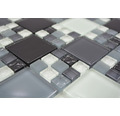 Glasmosaik XCM 8565 30x30 cm grau/schwarz/weiß
