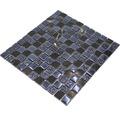 Glasmosaik mit Naturstein XCM M862 30,2x32,7 cm schwarz