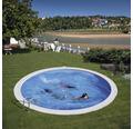 Einbaupool rund Einbaupool Ø 420 x 150 cm 18840 l Weiß inkl. Sandfilteranlage