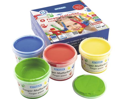 Fingerfarben, 4 x 100 ml