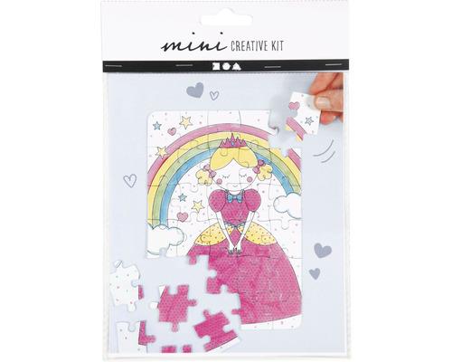 Mini Kreativ-Set Prinzessin Puzzle weiß