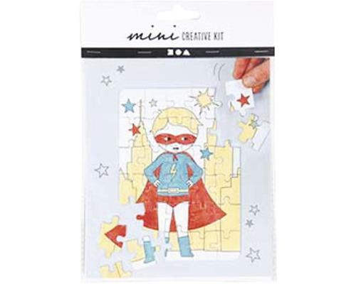 Mini Kreativ-Set Superhero Puzzle weiß
