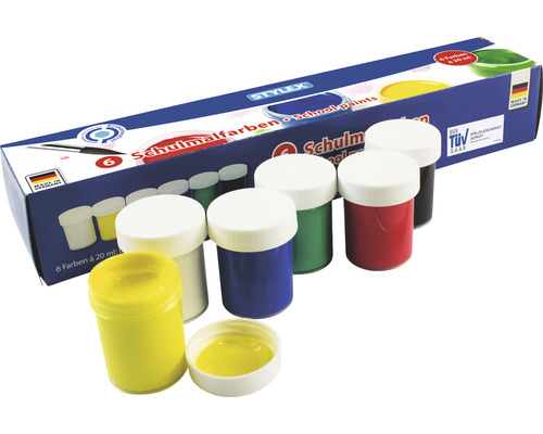 Schulmalfarben 6 x 20 ml