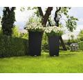 Pflanzvase Lechuza Cubico Cottage 40 konisch schwarz inkl. Erdbewässerungssystem