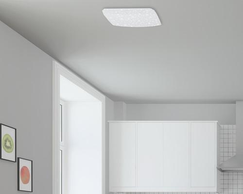 LED Sensor Deckenleuchte Sternenhimmel IP20 12W 1200 lm 4000 K neutralweiß HxTxB 76/270/270 mm weiß