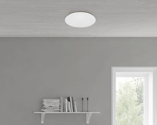 LED Sensor Deckenleuchte Sternenhimmel IP 20 18W 1600 lm 4000 K neutralweiß HxØ 112/389 mm weiß