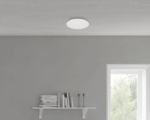 LED Sensor Deckenleuchte Sternenhimmel 12W 1200 lm 4000 K neutralweiß HxØ 95/280 mm weiß Telefunken