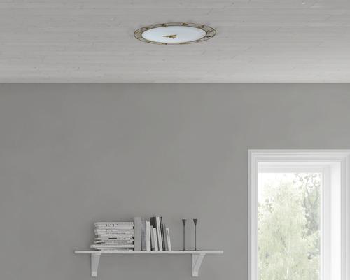 Deckenleuchte 2-flammig Ø 440 mm Primavera Marmer antik/braun/weiß