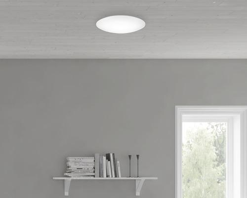 LED Deckenleuchte 12W 1100 lm 4000 K neutralweiß Ø 280 mm Suede weiß