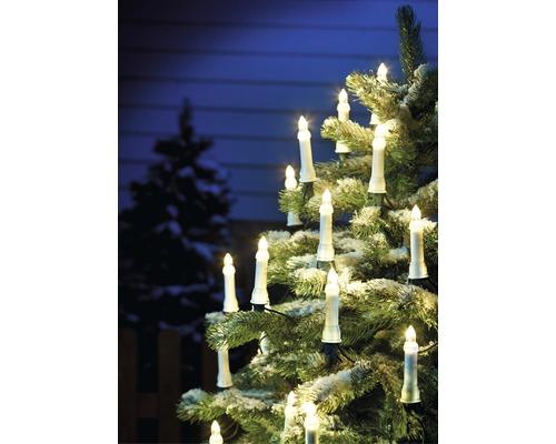 Kerzen-Lichterkette trennbarer Stecker, 55er, warmweiß