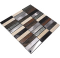Glasmosaik NIGHT 48X mix schwarz/beige/braun 29,8x29,8 cm