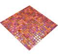 Glasmosaik GM MRY 933 31,7x31,7 cm mix rot