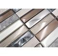 Glasmosaik NIGHT 68X mix braun/beige 29,8x29,8 cm