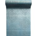 Vliestapete 87164-HOR Pure & Noble IV Glasperle Rosaly Petrol