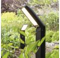 LED Sensor Außensockelleuchte IP44 9W 600 lm 3000 K warmweiß HxB 500x100 mm Pepillo schwarz Alu