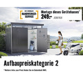 Auflagenbox biohort LoungeBox 160, 160x70x83,5 cm, quarzgrau-metallic