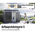 Geräteschrank biohort Gr. 90 mit Regalböden und Gerätehalter, 93 x 83 x 182,5 cm, dunkelgrau-metallic