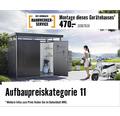 Gerätehaus biohort Europa 224 x 152 cm dunkelgrau-metallic