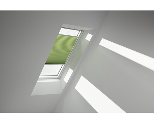 Velux Plissee-Faltstore manuell moosgrün uni FHL PK08 1280S