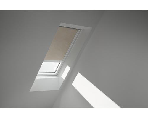 Velux Verdunkelungsrollo solarbetrieben sandbeige gepunktet DSL U04 4579S