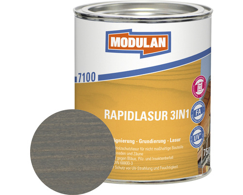 Modulan Rapidlasur 3in1 hellgrau 750 ml