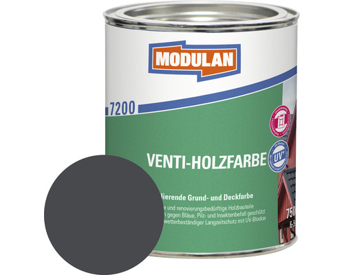 Modulan Venti-Holzfarbe RAL 7016 anthrazitgrau 750 ml