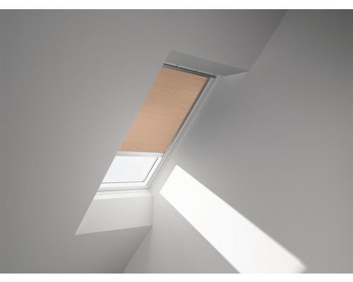 Velux Plissee-Faltstore solarbetrieben apricot uni FSC U04 1049SWL