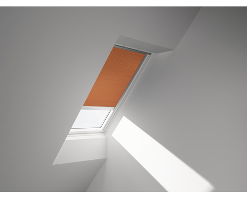 Velux Plissee-Faltstore solarbetrieben sanddorn uni FSC SK10 1167SWL