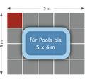 Poolunterlage rund Terrasoft 100 x 100 x 3 cm Kautschuk anthrazit