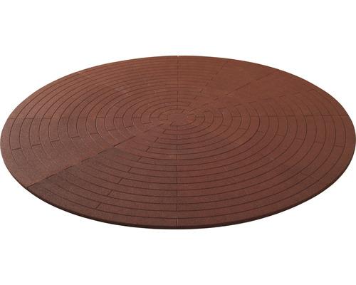 Poolunterlage rund Terrasoft ø 380 cm Kautschuk rot