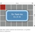Poolunterlage Terrasoft 100 x 100 x 3cm Kautschuk rot