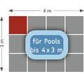 Poolunterlage Terrasoft 100 x 100 x 3 cm Kautschuk grün