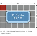 Poolunterlage Terrasoft 100 x 100 x 3 cm Kautschuk anthrazit
