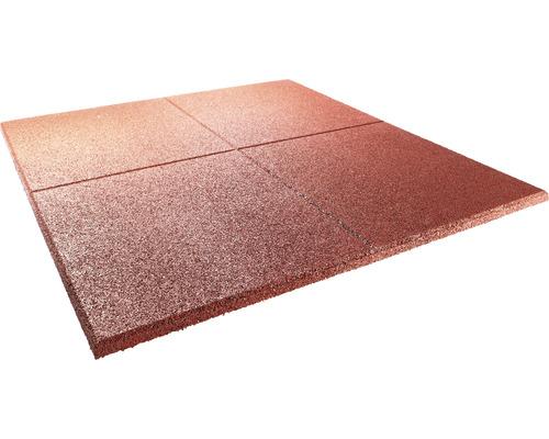 Poolunterlage Terrasoft 100 x 100 x 3 cm Kautschuk rot