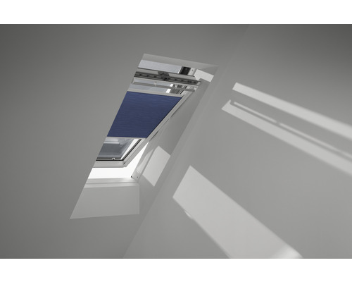 Velux Wabenplissee-Faltstore elektrisch nachtblau uni FMC C06 1156SWL