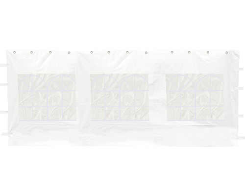 Seitenteil Set für Zelt 400 x 600 cm weiß besteht aus 2 Seitenteile je ca. 595 x 195 cm und 2 Giebelseitenteile je ca 395 x 280 cm