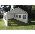 Seitenteil Set für Zelt 400 x 800 cm weiß besteht aus 2 Seitenteile je ca. 795 x 195 cm und 2 Giebelseitenteile ca 395 x 295 cm