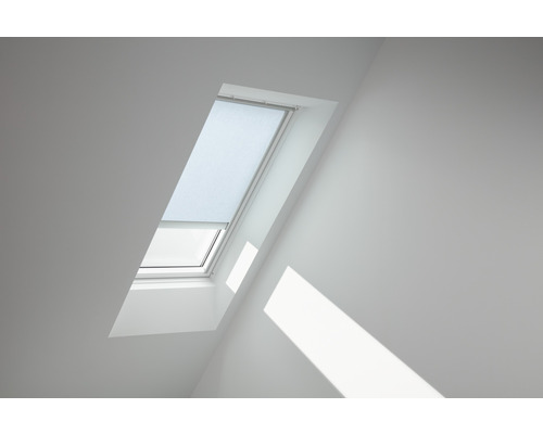 Velux Tageslichtrollo solarbetrieben himmelblau uni RSL P08 4166S