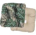 Sitzkissen 2-seitig verwendbar Baumwolle/Polyester braun