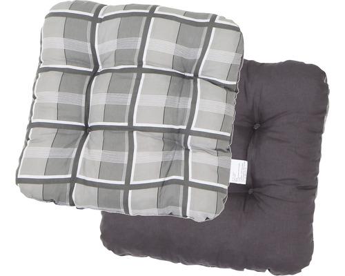 Sitzkissen 2-seitig verwendbar Baumwolle/Polyester grau