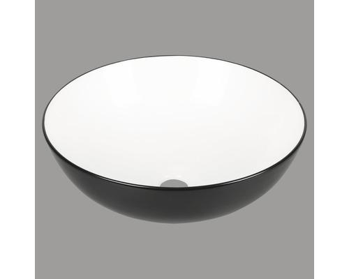 Aufsatzwaschbecken Duo 39,5 cm schwarz/weiß